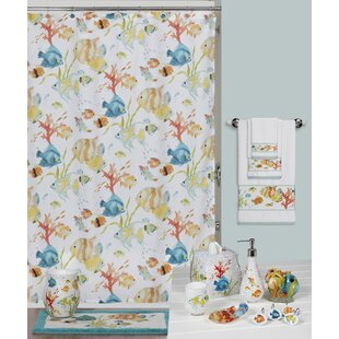 Cater Fish Single Shower Curtain by Highland Dunes Amazing