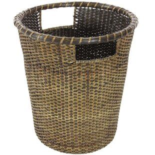 Oriental Furniture Rattan Waste Basket