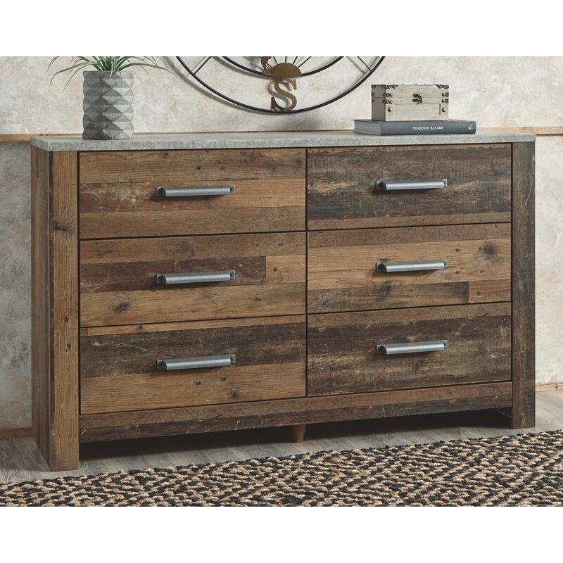 Millwood Pines Tavares 6 Drawer Double Dresser Reviews Wayfair