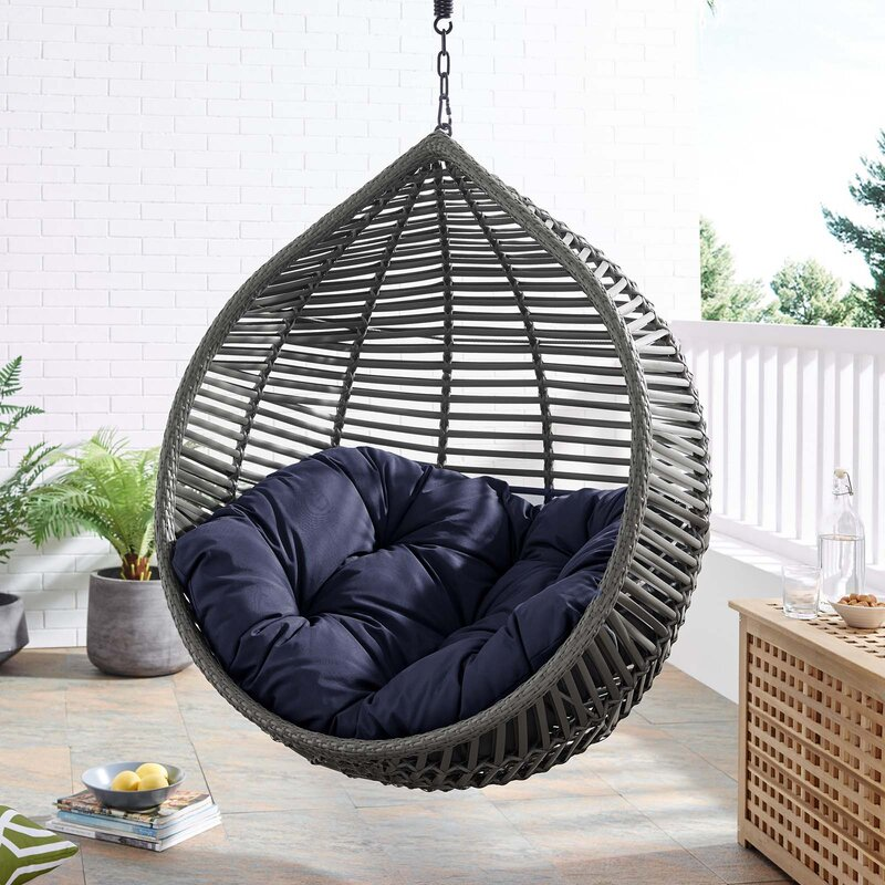 teadrop basket swing without stand on the teracce
