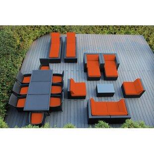 Ohana Depot Ohana 20 Piece Complete Patio Set with Cushions