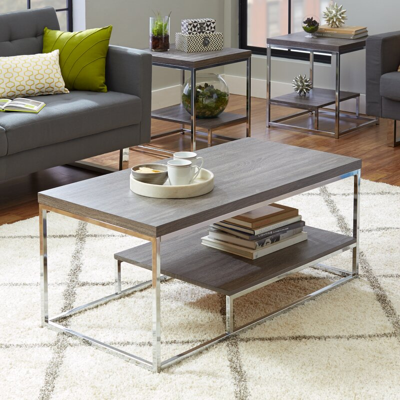 Living Room 3 Piece Table Sets mercury row philippos 3 piece table set & reviews | wayfair