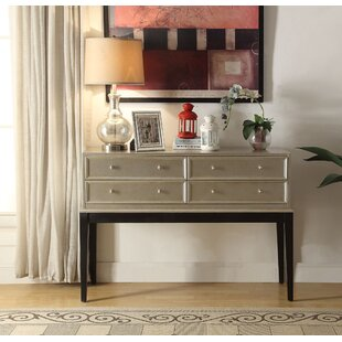 Rosdorf Park Nala Antique Silver 4 Drawer Accent Chest