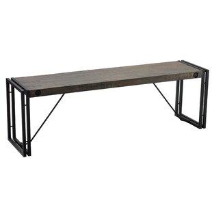 Cebes MetalWood Bench by Ebern Designs
