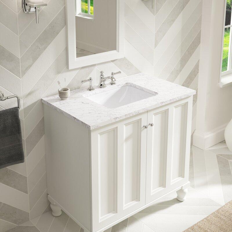Kohler Undermount Bathroom Sinks Reviews kohler caxton rectangle undermount bathroom sink with overflow
