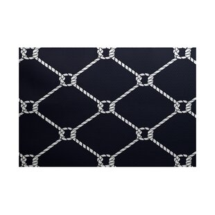 Bridgeport Navy Blue Indoor/Outdoor Rectangle Area Rug