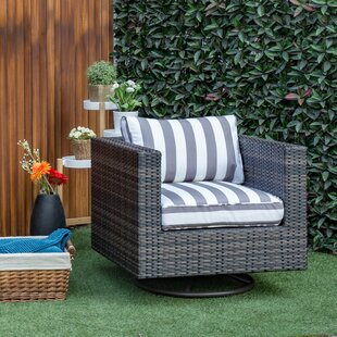 Mcnally Swivel Patio Chair with Cushions