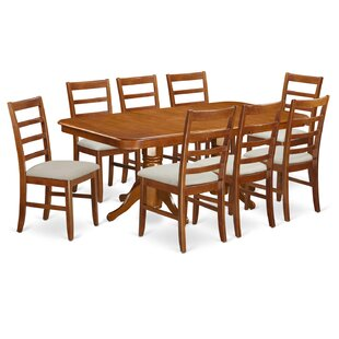 Pillsbury Modern 9 Piece Wood Dining Set August Grove