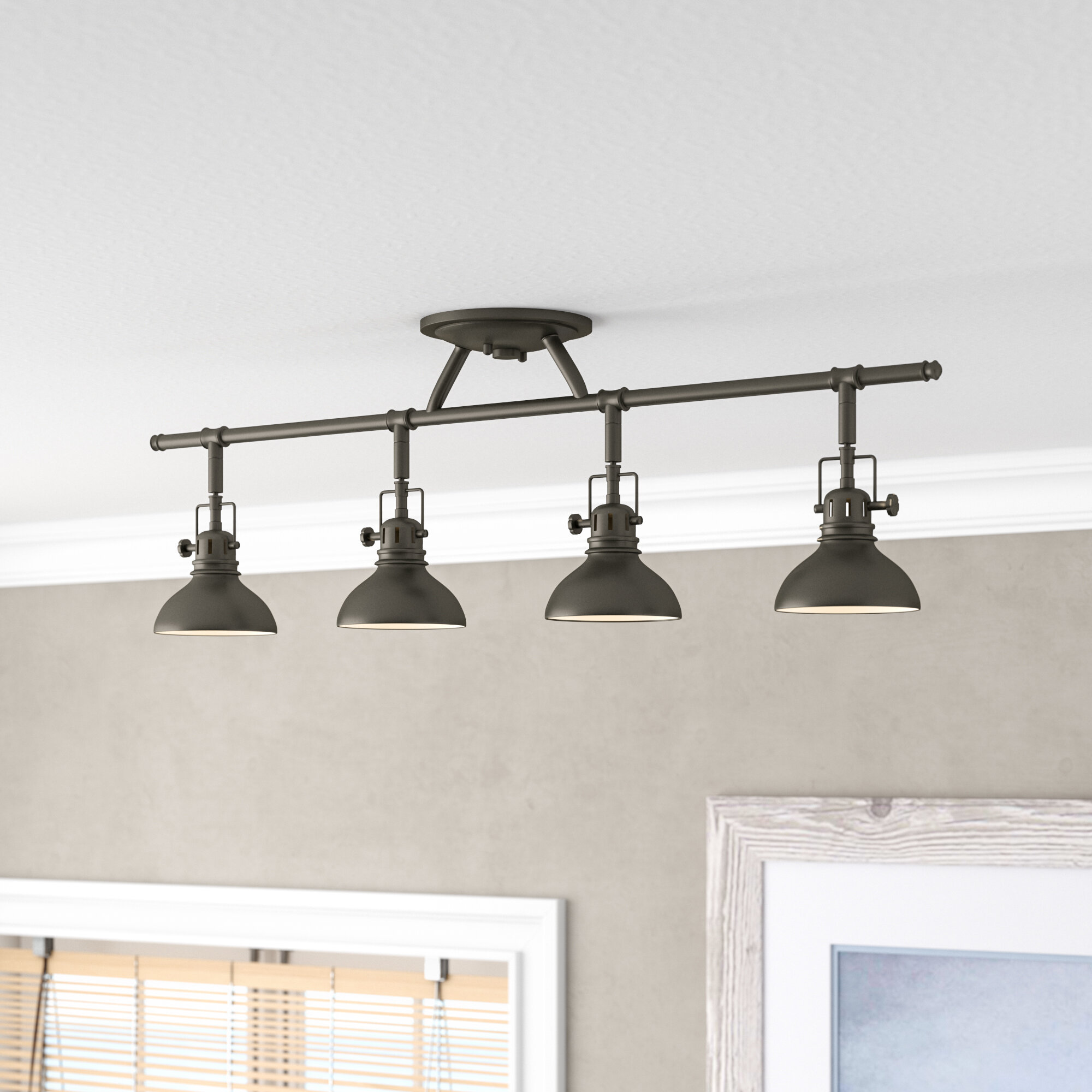 Beachcrest home dollinger 4 light fixed track lighting kit reviews wayfair