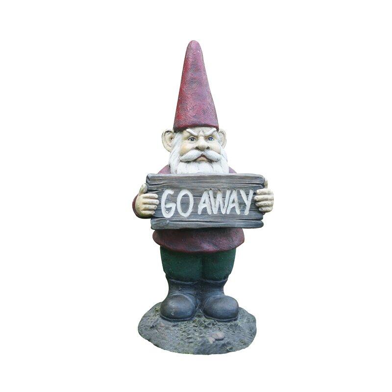 Hi Line Gift Ltd Gnome Holds Go Away
