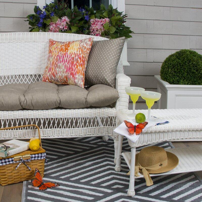 Wicker Indoor Outdoor Bench Cushion