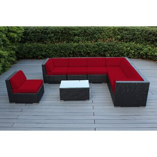 Baril 8 Piece Sunbrella Sectional Set with Sunbrella Cushions