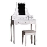 Elmdale Vanity Set with Stool and Mirror by One Allium Way®