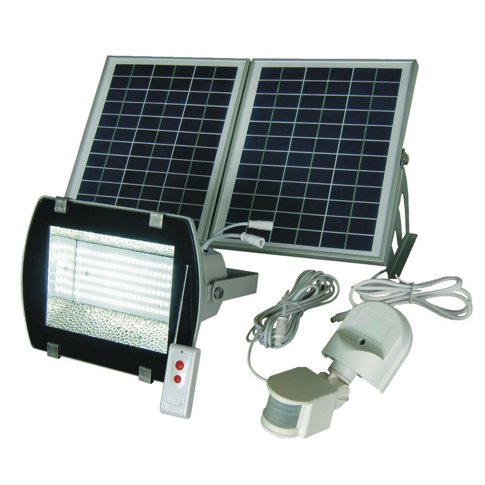 Solar Goes Green Outdoor Security Flood Light With Motion Sensor