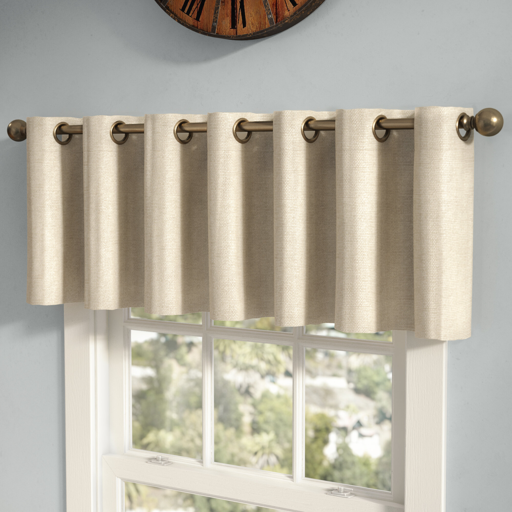 grommets chatsworth valance panel grommet curtains lined products marburn red