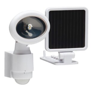 LED, Solar Power, Battery Operated Outdoor Security Flood Light with Motion Sensor by Heath-Zenith
