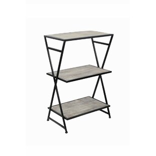 Plumerville Metal and Wood 3 Tiered End Table