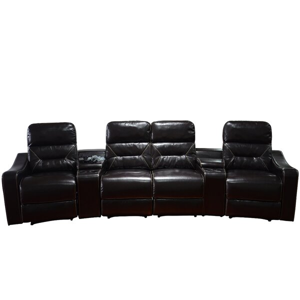Newacme LLC MCombo Leather Home Theater Recliner (Row of 4) u0026 Reviews | Wayfair  sc 1 st  Wayfair : theatre recliner - islam-shia.org