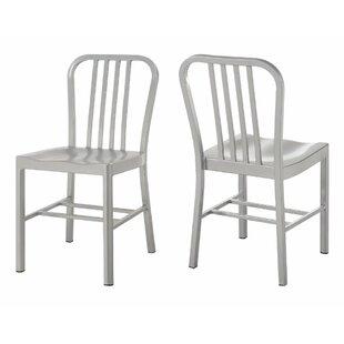 Breakwater Bay Wilfong Industrial Metal Dining Chair (Set of 2)