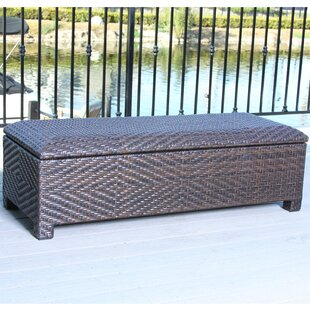 Dedman Wicker Storage Bench by Bay Isle Home