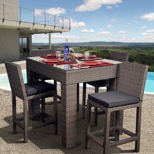 Beachcrest Home Aquia Creek 5 Piece Bar Height Dining Set