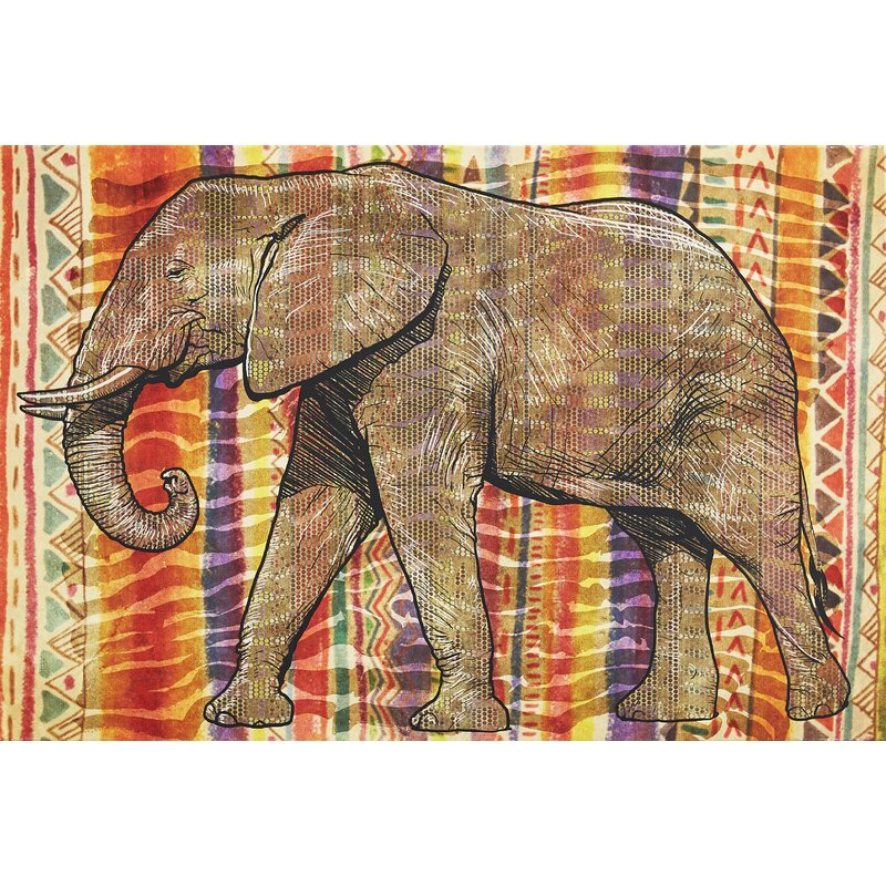 ELEPHANT ANIMALS INDIA Canvas Wall Art Picture  TM7 MATAGA UNFRAMED-ROLLED