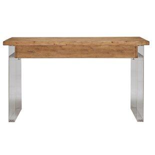 Leamon Reclaimed Wood and Acrylic Desk