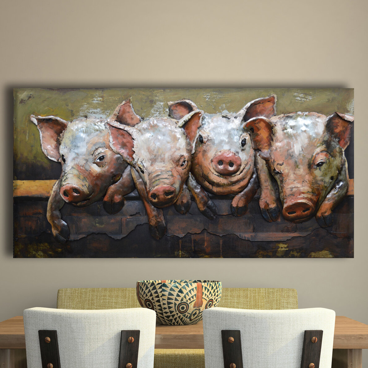 It S A Pig Party Metal Wall Décor