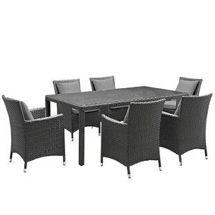 Tripp 7 Piece Dining Set with Sunbrella Cushions