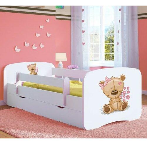 Funktionsbett Cazares mit Matratze und Schublade | Schlafzimmer > Betten > Funktionsbetten | Weiß | Mdf | Roomie Kidz