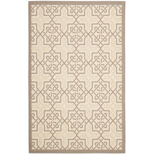 Poole Cream/Brown Indoor/Outdoor Area Rug