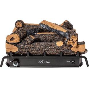 Vent Free Natural Gas/Propane Fireplace Log Set By Barton