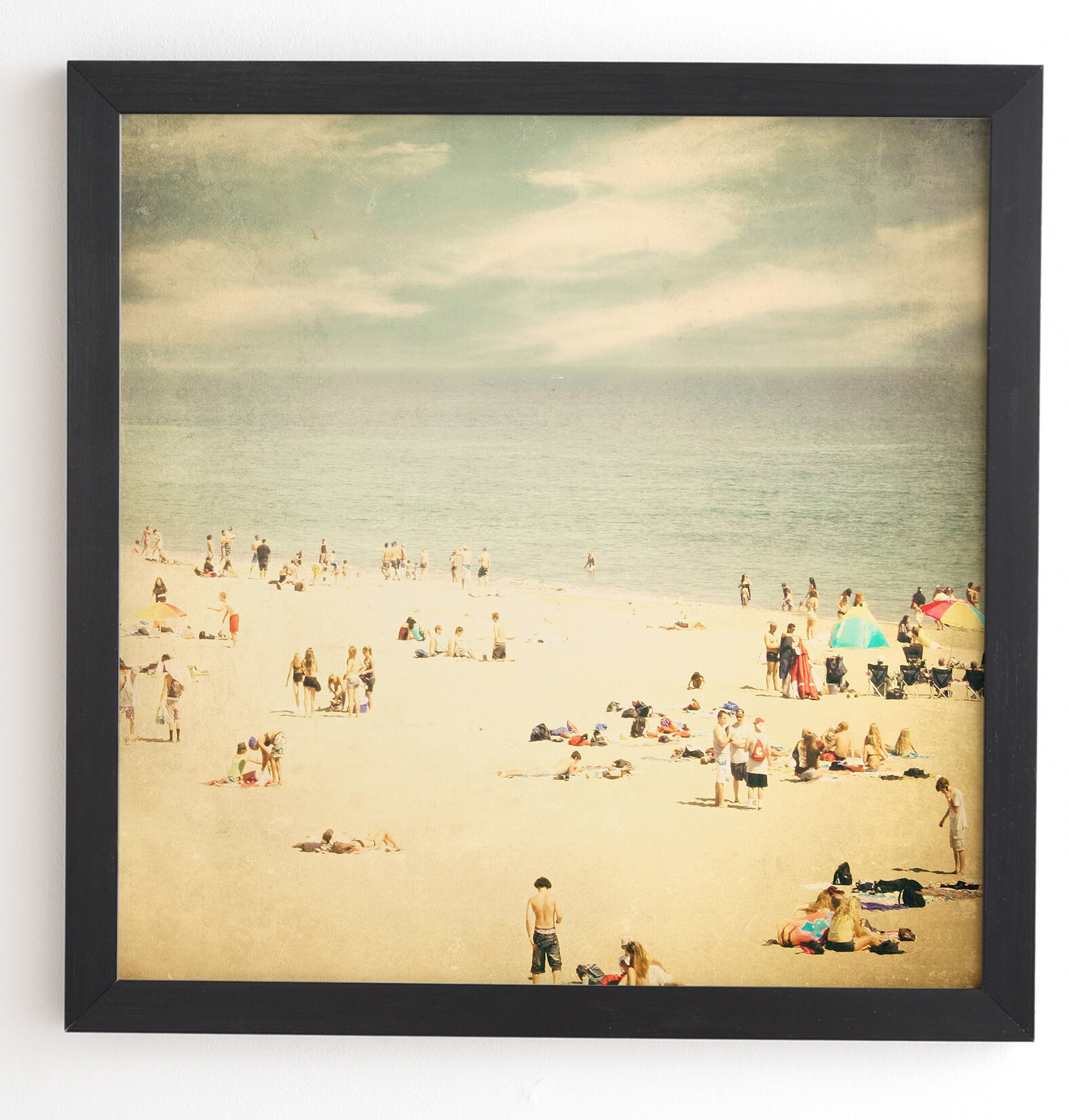 East Urban Home Vintage Beach Picture Frame Graphic Art Print On Wood Reviews Wayfair