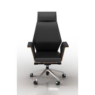Latitude Run Kovacs Height Adjustable Executive Chair