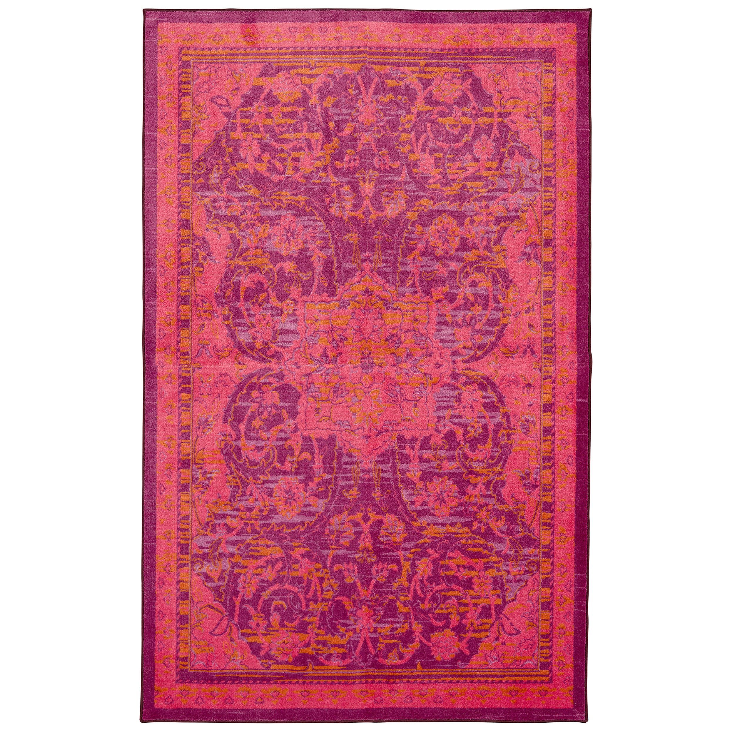 Picture of: World Menagerie Damarion Hot Pink Area Rug Reviews Wayfair Ca
