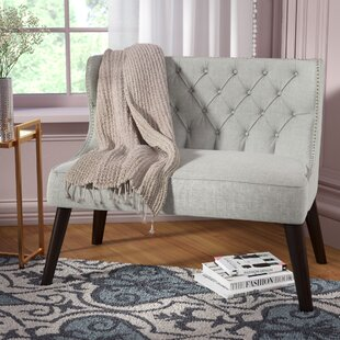 Willa Arlo Interiors Aguayo Tufted Wing Back Settee Bench