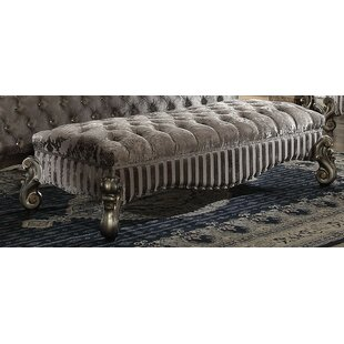Tanner Wood Bench by Astoria Grand