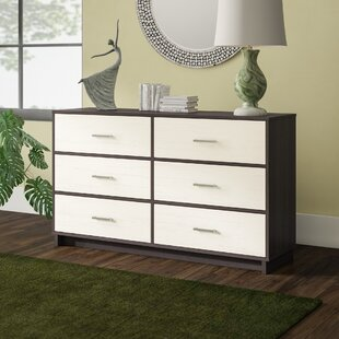 Chicopee Wood 6 Drawer Double Dresser
