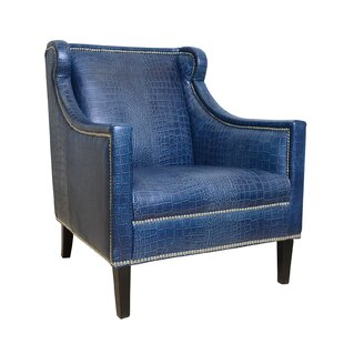 Pasargad Bergdorf Leather Armchair
