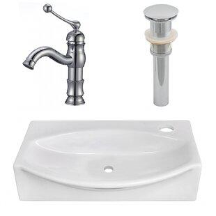 Ceramic 16.5 Bathroom Sink with Faucet ByRoyal Purple Bath Kitchen