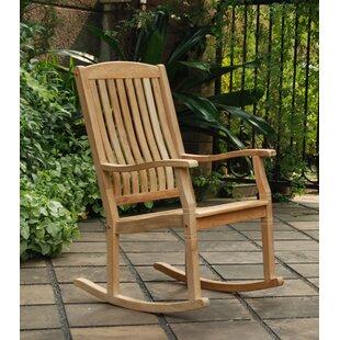 Seymour Porch Teak Rocking Chair by Crestwood