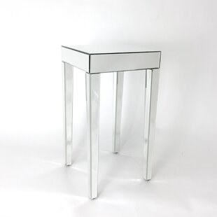 Divya Beveled Mirror End Table by House of Hampton