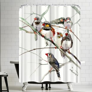 Suren Nersisyan Zebrafinches Single Shower Curtain