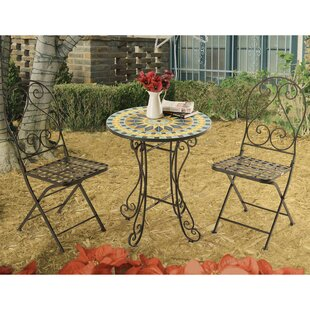 Fleur De Lis Living Arana New Mosaic 3 Piece Bistro Set