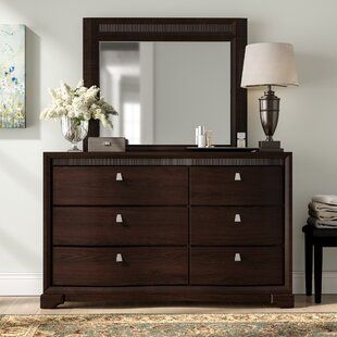 Cardone 6 Drawer Double Dresser with Mirror by Three Posts