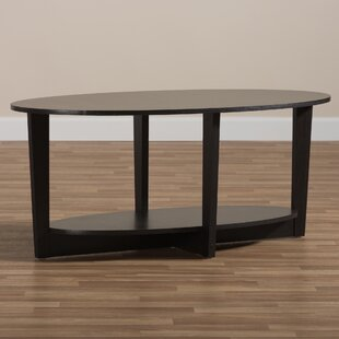 Ebern Designs Iron City Wooden Coffee Table