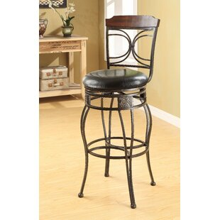Kevan 29 Swivel Bar Stool (Set of 2) Bloomsbury Market