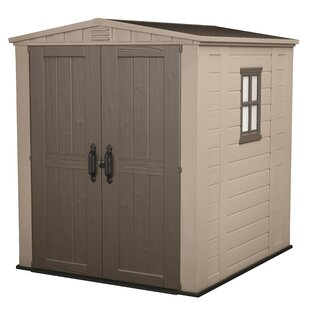 Factor 6 Ft. W X 6 Ft. D Apex Plastic Tool Shed By Keter