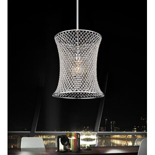 1-Light Crystal Pendant by CWI Lighting