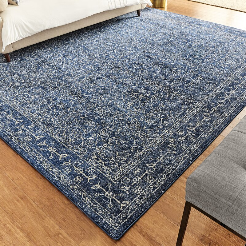 Utterback Dark Blue Area Rug